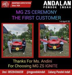 Desi MG (Morris Garage) Tangerang Selatan - MG (Morris Garage) Jabodetabek